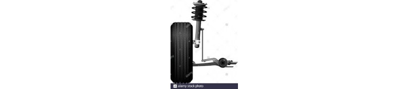 Suspensión y frenos de vehículos.